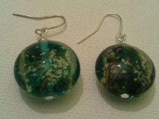 Teal Lampwork Earrings